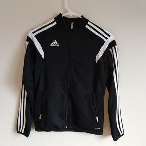 Kids large adidas black jacket